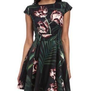 NWT Ted Baker Flora Skater Jersey Dress